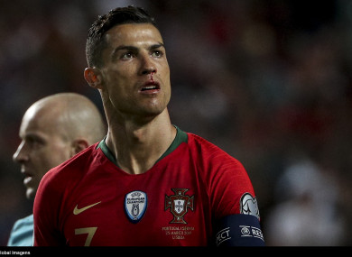 Ronaldo was withdrawn in the first half of his side's Euro 2020 qualifier against Serbia.