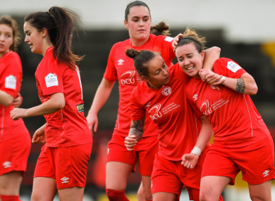 Rebecca Creagh scored three for the Reds on Saturday at Tolka Park.