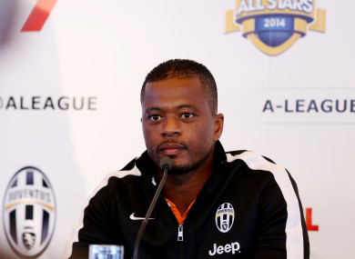 Tensions began after Evra posted a video on Instagram celebrating Man United's Champions League win over the French side.