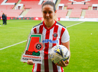 Sheffield United striker Sophie Jones (file pic).