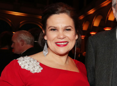 Mary Lou McDonald attending the Ireland Funds dinner in Washington DC last year.