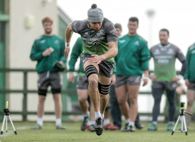 Ultan Dillane in Connacht training at the Sportsground yesterday.