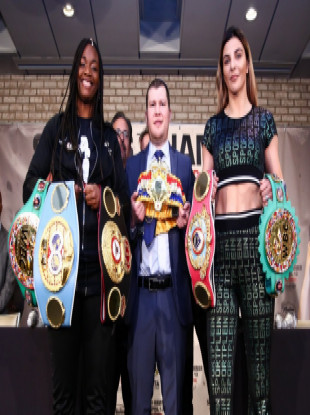 Claressa Shields (L) and Christina Hammer (R) will square off in a battle of undefeated middleweight world champions this spring.