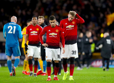 United were dumped out of the FA Cup on Saturday.