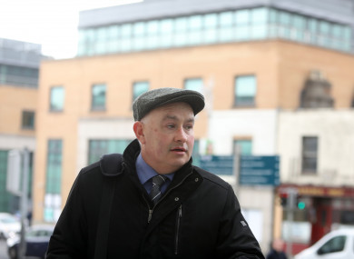 Patrick Quirke arriving at the Criminal Courts of Justice yesterday