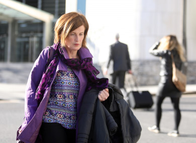 Mary Lowry leaving the Central Criminal Court Dublin