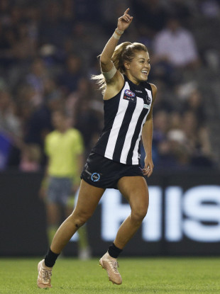 Sarah Rowe had an impressive maiden season in the AFLW.