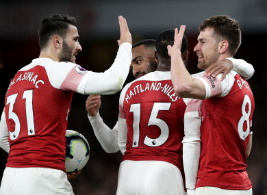 c121d7036603 Arsenal leapfrog Spurs to go third after 10th Premier League win in a row  at home