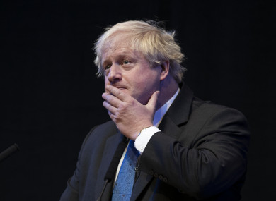 British former foreign secretary Boris Johnson (file photo)