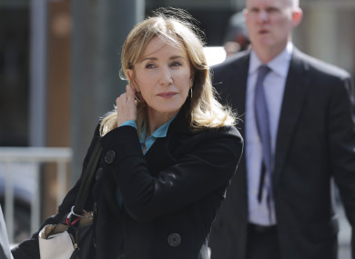 Felicity Huffman arriving at federal court in Boston last week
