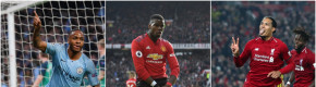 Pogba the surprise inclusion in City and Liverpool-dominated PFA Team of the Year