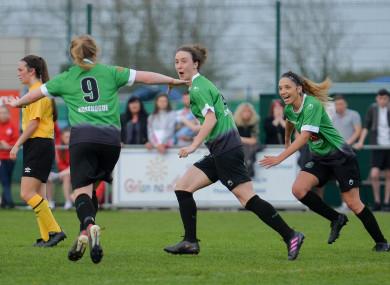 Former Ireland midfielder Karen Duggan was on target for Peas.
