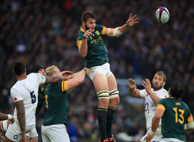 De Jager has won 38 caps for South Africa.