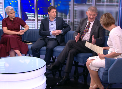 Candidates speaking to Áine Lawlor during RTÉ during The Week In Politics