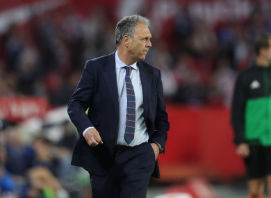 Caparros took over as Sevilla caretaker manager in March.