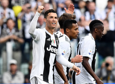 Cristiano Ronaldo has now won league titles in England, Spain and Italy.