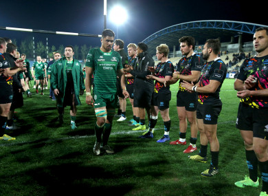 Connacht sit in third place in Conference A.