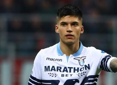 Lazio forward Joaquin Correa.