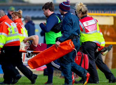Joe Canning was injured in the closing stages of Galway's league semi-final.