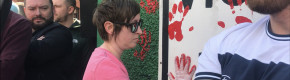 Friends of Lyra McKee put red handprints on dissident republican group's office