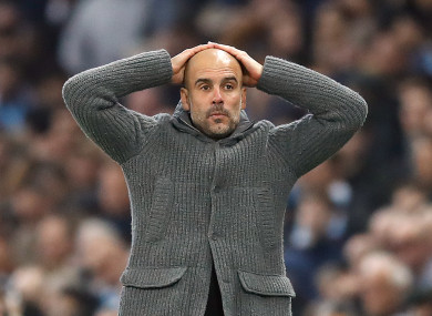 Pep Guardiola reacts to Wednesday's video nasty.