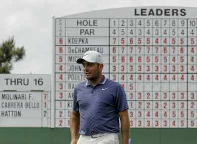 Molinari leads at Augusta.