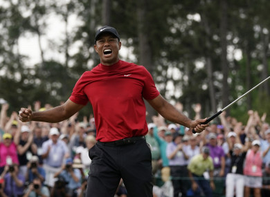 Tiger Woods wins The Masters.