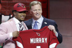 Kyler Murray of the Arizona Cardinals with NFL chief Roger Goodell.