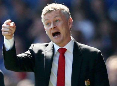 Ole Gunnar Solskjaer pictured during today's game.