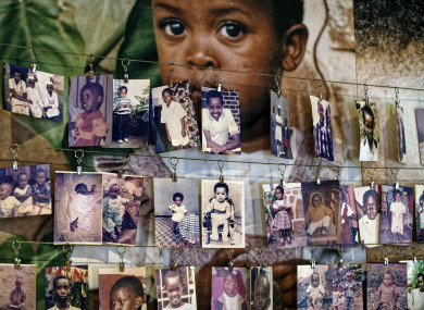 Family photographs of some of the infants and children who died.