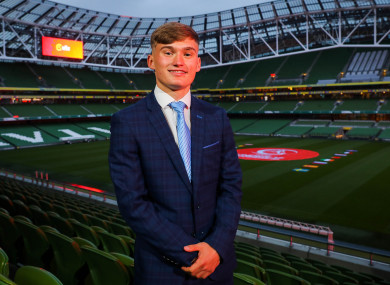 Seamas Keogh pictured at the Uefa European U17 Championship Finals Draw on Thursday.