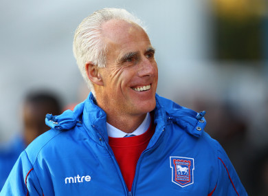 Mick McCarthy, in his former life as Ipswich boss.