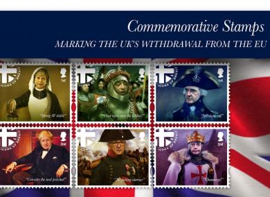 Commemorative Brexit stamps
