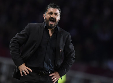 Managerial life is getting stickier for Gennaro Gattuso.