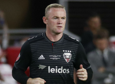 Wayne Rooney in action for DC United.