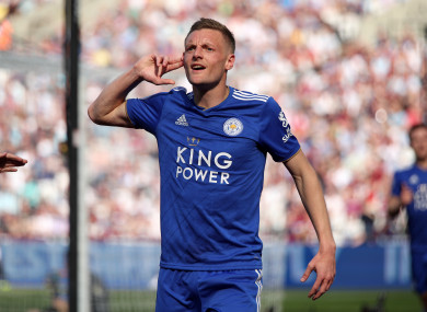 Jamie Vardy has scored 16 goals for Leicester this season.