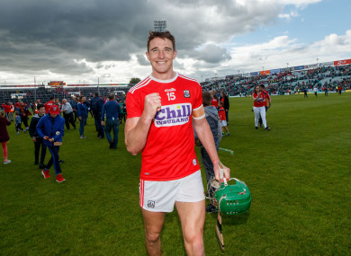 Aidan Walsh toasts Cork's victory in the Gaelic Grounds.