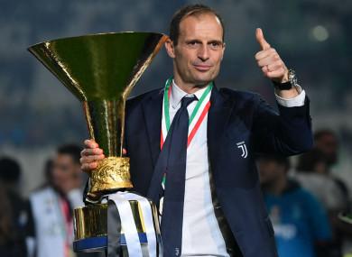 Juventus coach Massimiliano Allegri is seeking new employment.