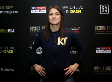 Katie Taylor at the welcome reception in New York.