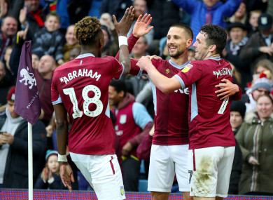 Hourihane levelled in the second half for Aston Villa.