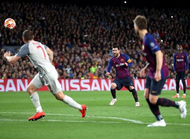 Messi's stunning second-half free-kick.