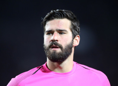 Alisson has impressed in his debut campaign with Liverpool.