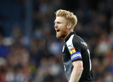 Paul McShane in action for Reading against Blackburn at the start of the season.