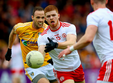 Cathal McShane was in fine form for Tyrone on Saturday evening.