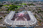 An aerial view of Croke Park during last night's Spice Girls gig