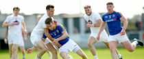Kildare's Eoin Doyle in action against Longford's Colm P Smyth.