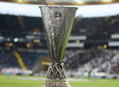 The Europa League trophy.