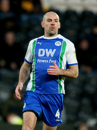 Darron Gibson made 18 appearances for Wigan Athletic in the Championship.