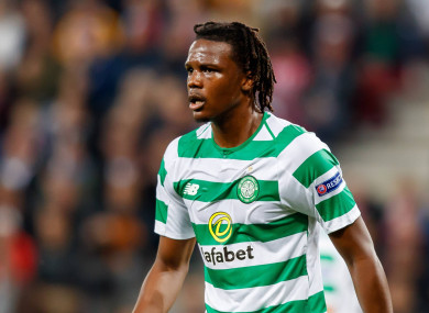 Boyata in action against Salzburg in the Europa League.