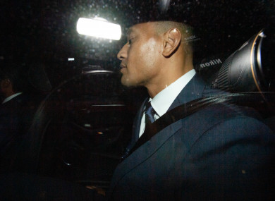 Israel Folau leaves Rugby NSW following a Code of Conduct hearing in Sydney.